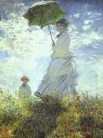 Monet Reproduction _ Claude Monet - Woman with a Parasol